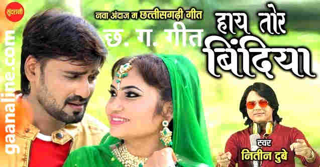 Hay Tor Bindiya Cg Song Lyrics in Hindi  –Nitin Dubey | Mona Sen